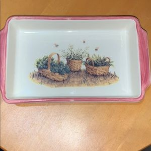 Longaberger small hand painted dish/platter